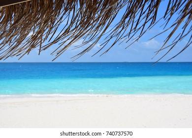 Maldivessea view, blue sea
