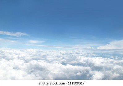 view of blue sky
