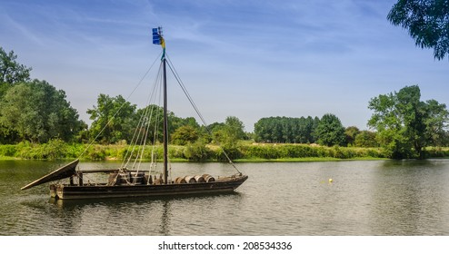 view of a boat near Amboise castle