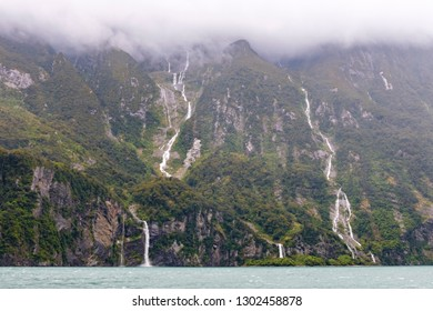 View from boat on Milford Sound, New Zealand