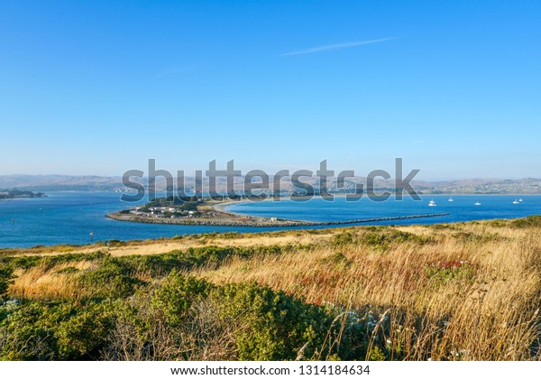 View of Bodega Bay and Doran Park from the bodega head trail