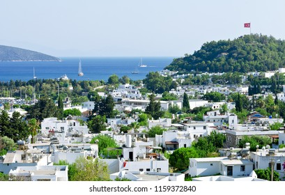 View from Bodrum coast. Bodrum is one of the most popular summer destinations on Turkey