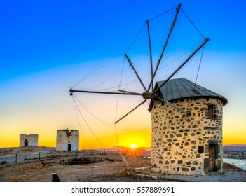 View of Bodrum and old Windmill, Turkey