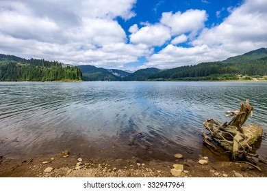View of Bolboci Lake - situated in Carpathians Mountains in Romania.