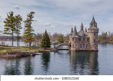 View of the Bold Castle on the St. Lawrence River, Thousand Islands