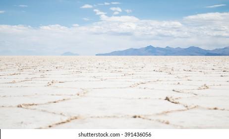 View of the Bolivian salt flats