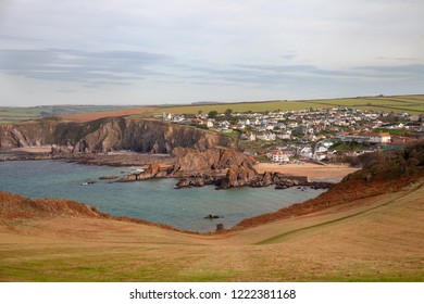 View from Bolt Tail to Hope Cove, Devon, England