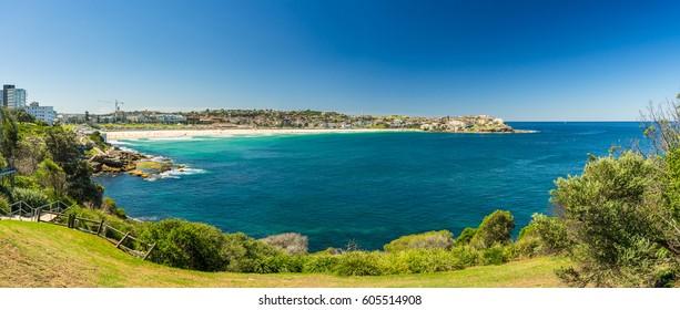 View of the Bondi Beach in Sydney Australia