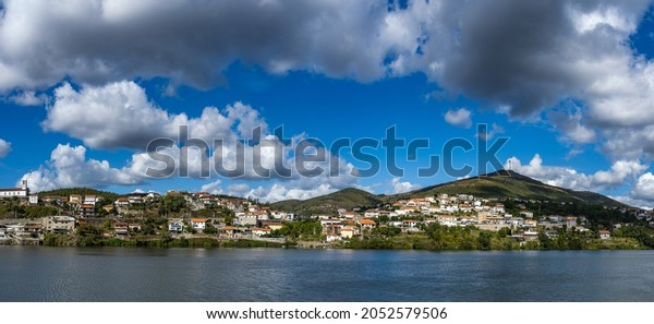 View of Boneca mountain range in Douro Valley. Alto Douro Wine Region in northern Portugal, officially designated by UNESCO as World Heritage Site.