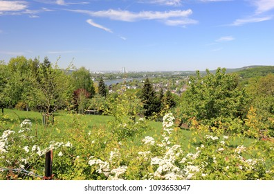 View of Bonn and the Rhine River. Germany.