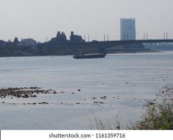 view to bonn at river rhine skyline