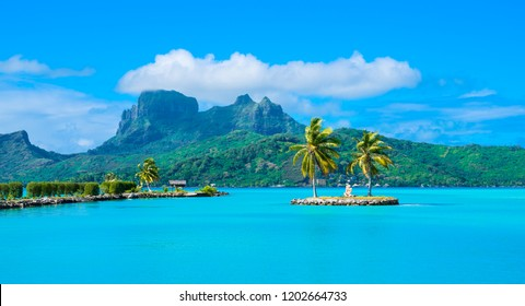 The view from Bora Bora airport.  This is what one will see at the Bora Bora airport after picking up baggages.