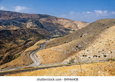 View of Border of Jordan from Golan Weights, Israel