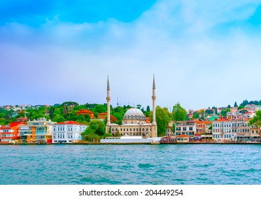 view from Bosphorus channel at Istanbul in Turkey