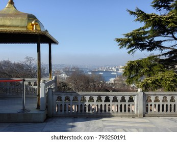 View of Bosphorus from Topkapi Palace. Istanbul. Turkey