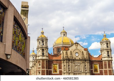 View of both the old and the new Basilica of Our Lady of Guadalupe