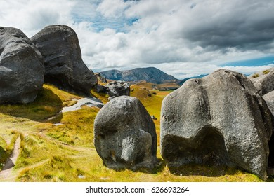 view of Boulders at Castle Hill, New Zealand