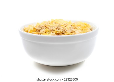 View of a bowl of cereal isolated over white background, suitable for nutrition, diet, themes