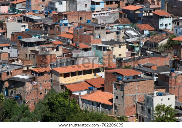 View of Brazilian Favela