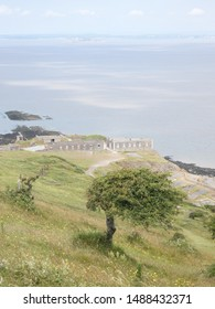 View of Brean Fort and the Bristol Channel