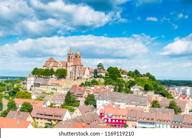 View of Breisach in Germany at the edge of the Rhine