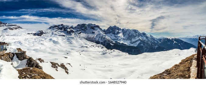 View of Brenta dolomites and Grostè, taken from Chalet FIAT