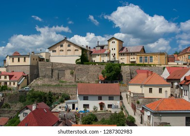 View of the brewery in Znojmo, South Moravia, Czech Republic.