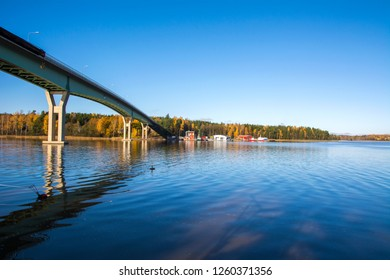 View to The Bridge between Emäsalo and the mainland, Finland
