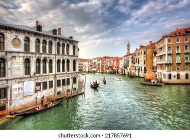 View from a Bridge in Venice