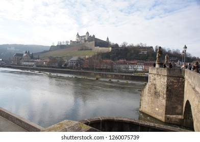 The  view from the bridge in Wurzburg
