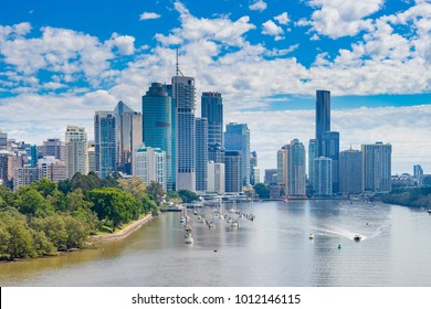 View of Brisbane CBD and Brisbane River in daytime