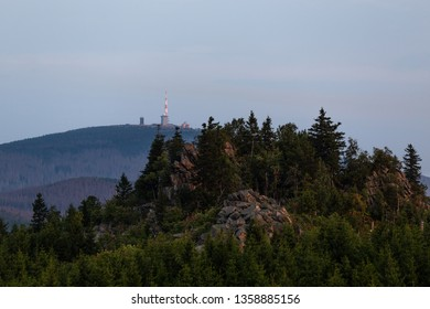 View to the Brocken in the Harz national Park