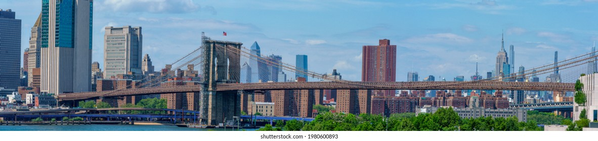 View from Brooklyn to Manhattan, New York, United States. 05.23.2021