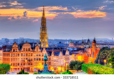 View of Brussels city center - Belgium