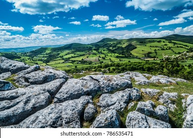 View from Bryn Alyn to Moel Famau near Mold, North Wales UK.