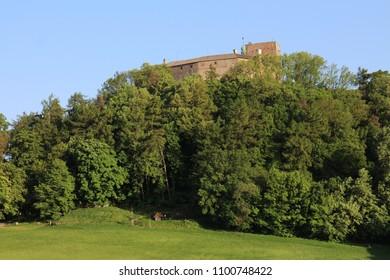 View to Buchlov castle, Czech republic