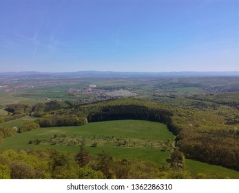 View from Buchlov Castle to the surrounding countryside.