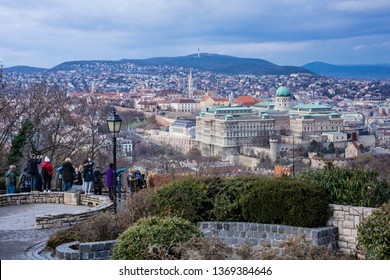 View of the Buda Castle Royal Palace and surrounding areas in Budapest, Hungary, Europe