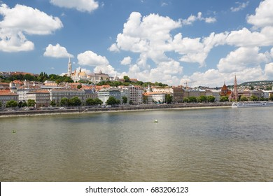 View of Buda side of Budapest with the Fishermen's Bastion and church. Hungary
