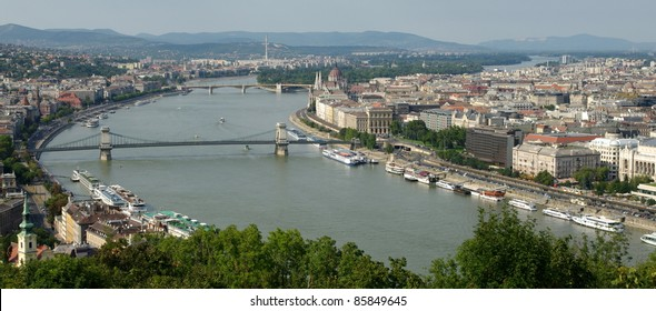 A view of Budapest from Citadella, Gellért Hill