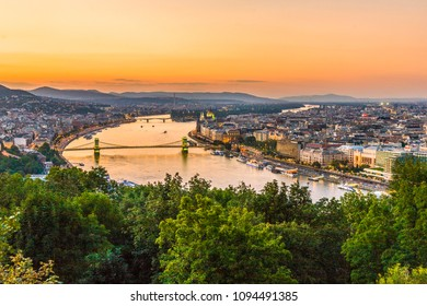 view to budapest, Hungary in sunset