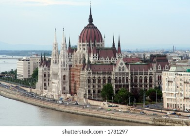 View of Budapest parliament