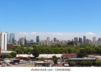 View of the Buenos Aires skyline during the day, Buenos Aires, Argentina