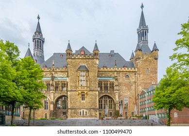 View at the building of City hall in Aachen - Germany