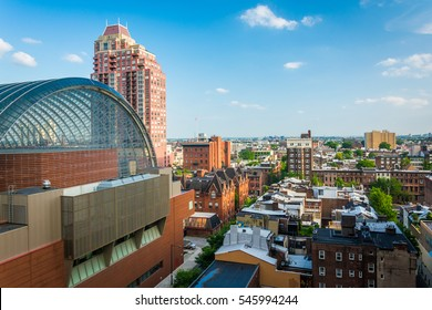 View of buildings in the Center City of Philadelphia, Pennsylvania.