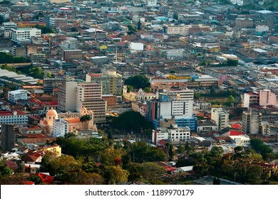 A view of buildings at the city of Tegucipalpa in Honduras