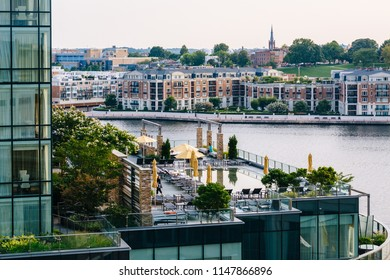 View of buildings in Harbor East and Federal Hill, Baltimore, Maryland