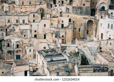 A view of buildings in Matera, Basilicata, Italy