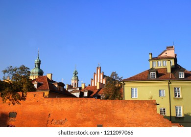 A view of buildings in Warsaw old town