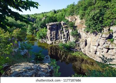 View of the Buki canyon. Buki, Cherkasy region, Ukraine.